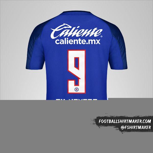 Camiseta Cruz Azul 2019/20 número 9 tu nombre