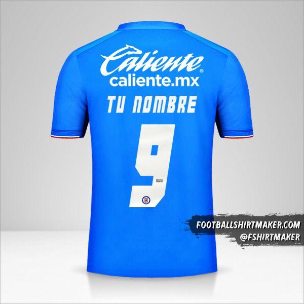 Camiseta Cruz Azul 2019 número 9 tu nombre