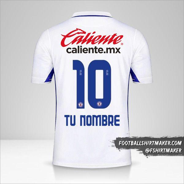 Camiseta Cruz Azul 2020/21 II número 10 tu nombre