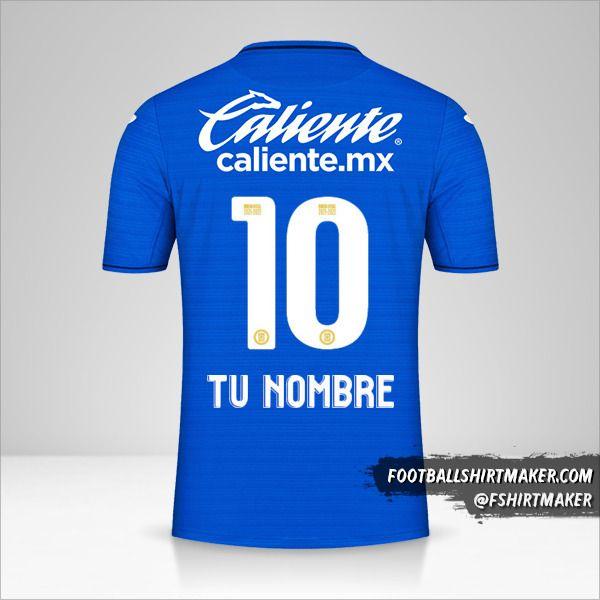 Camiseta Cruz Azul 2021/2022 número 10 tu nombre