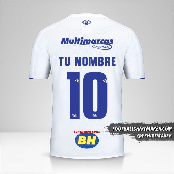 Camiseta Cruzeiro 2019/20 II número 10 tu nombre