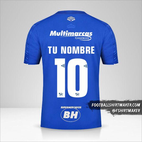 Camiseta Cruzeiro 2019/20 número 10 tu nombre