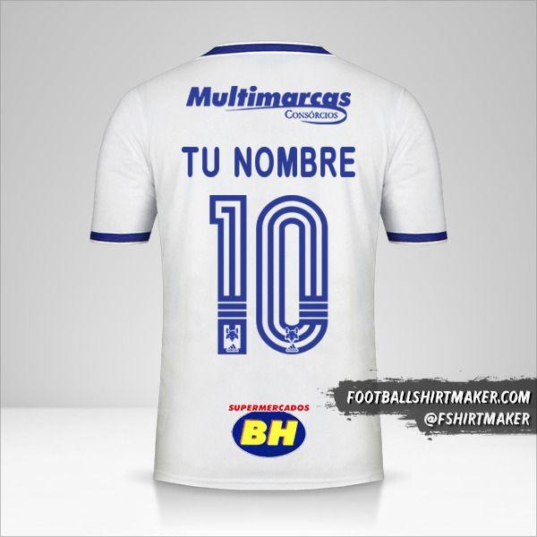 Camiseta Cruzeiro 2020 II número 10 tu nombre