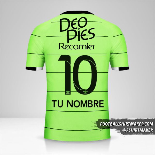 Camiseta Deportivo Cali 2017 III número 10 tu nombre