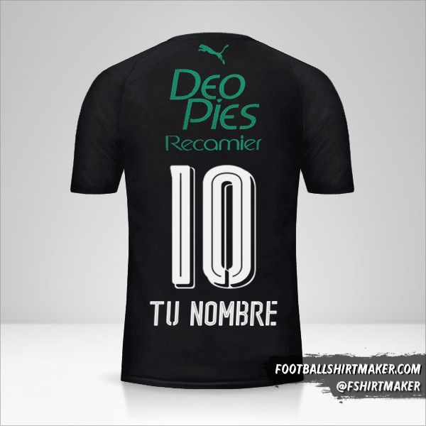 Camiseta Deportivo Cali 2018 III número 10 tu nombre