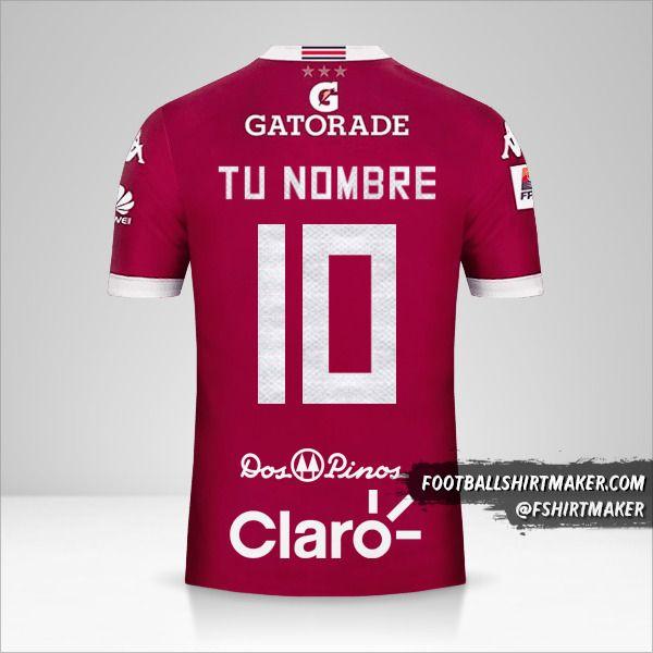 Camiseta Deportivo Saprissa 2016 número 10 tu nombre