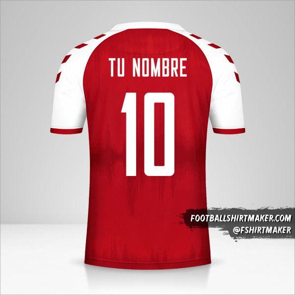 Camiseta Dinamarca 2021 número 10 tu nombre