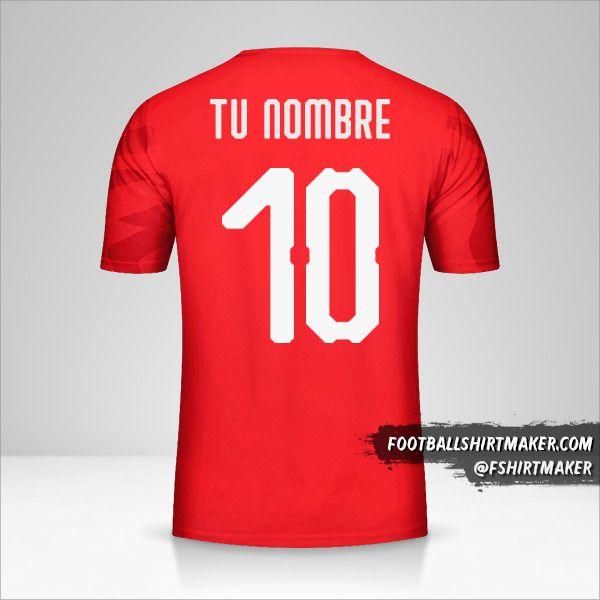 Camiseta Egipto 2019 número 10 tu nombre
