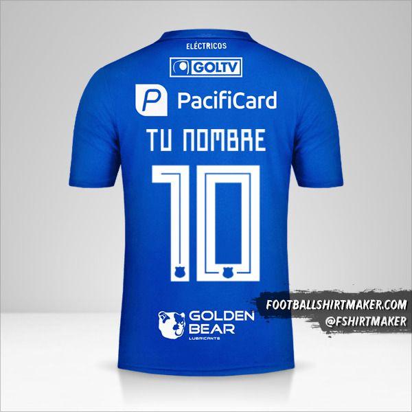 Camiseta Emelec 2019 número 10 tu nombre