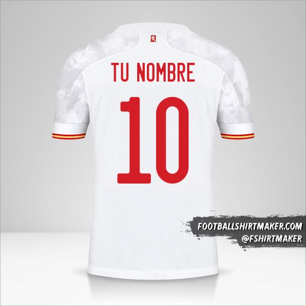 Camiseta España 2021 II número 10 tu nombre