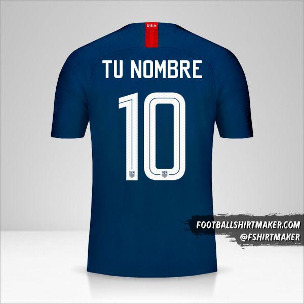 Camiseta Estados Unidos 2018 II número 10 tu nombre