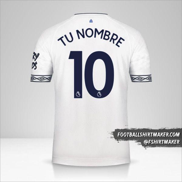 Camiseta Everton FC 2018/19 III número 10 tu nombre