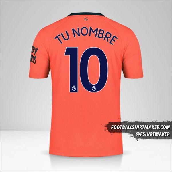 Camiseta Everton FC 2019/20 II número 10 tu nombre