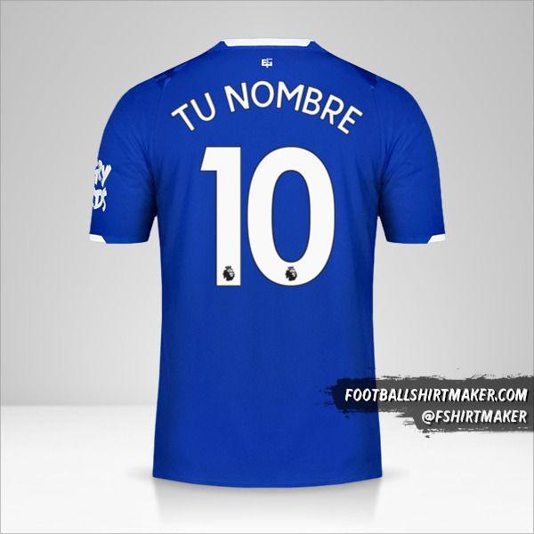 Camiseta Everton FC 2019/20 número 10 tu nombre
