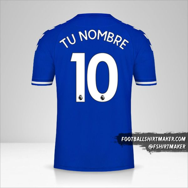Camiseta Everton FC 2020/21 número 10 tu nombre