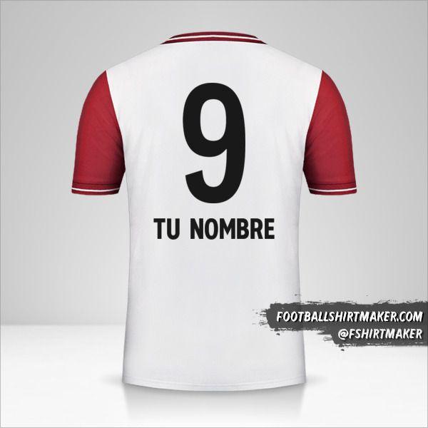 Camiseta FC Bayern Munchen 120 Years número 9 tu nombre