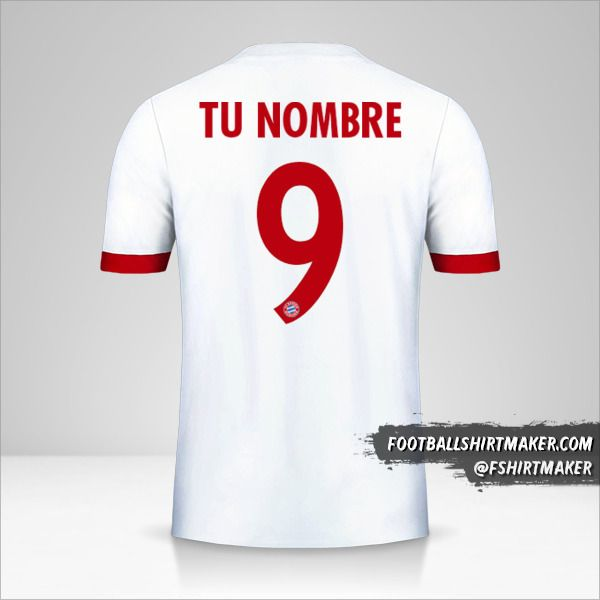 Camiseta FC Bayern Munchen 2017/18 Cup III número 9 tu nombre