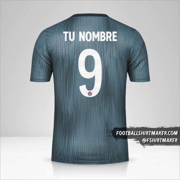 Camiseta FC Bayern Munchen 2018/19 Cup III número 9 tu nombre