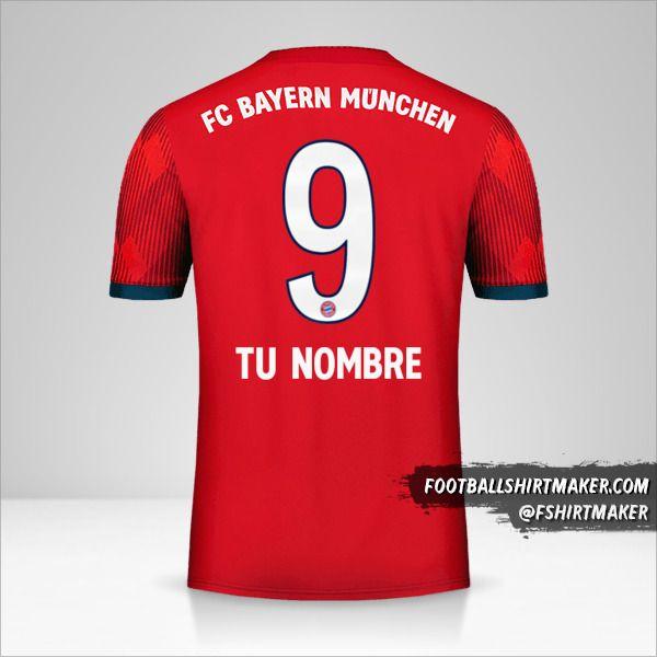 Camiseta FC Bayern Munchen 2018/19 número 9 tu nombre