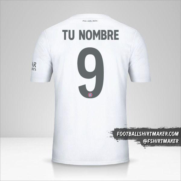 Camiseta FC Bayern Munchen 2019/20 Cup II número 9 tu nombre
