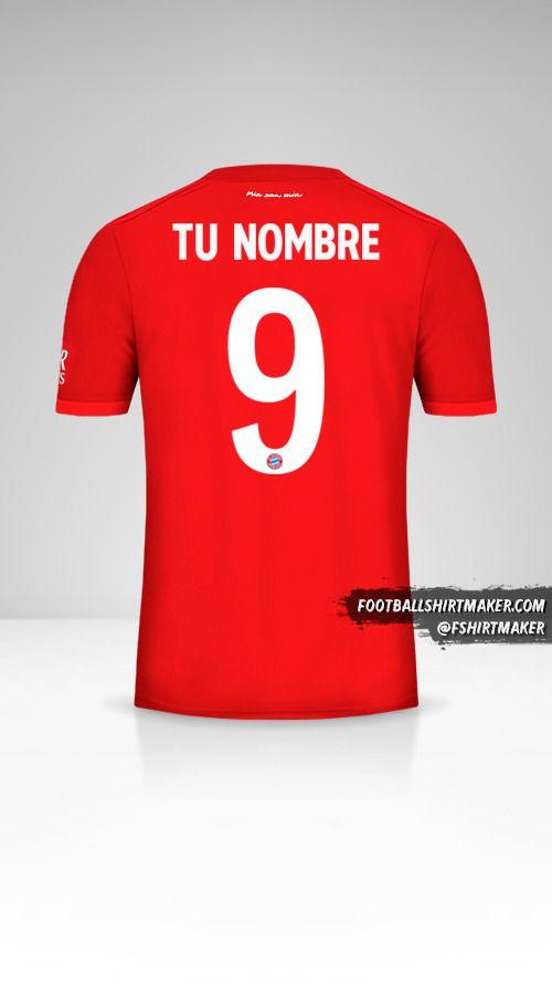 Camiseta FC Bayern Munchen 2019/20 Cup número 9 tu nombre