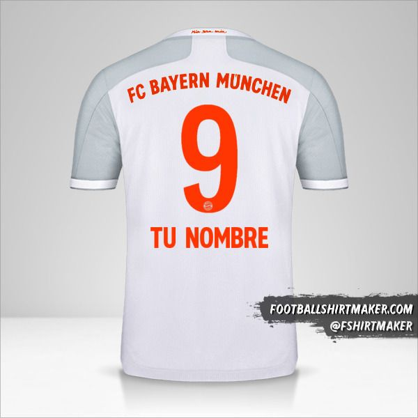 Camiseta FC Bayern Munchen 2020/21 II número 9 tu nombre