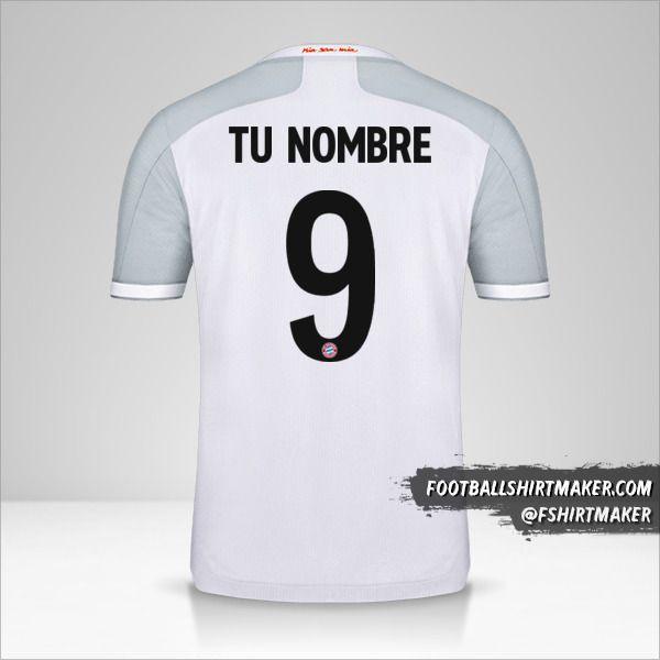 Camiseta FC Bayern Munchen 2020/21 Cup II número 9 tu nombre