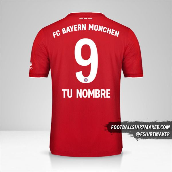 Camiseta FC Bayern Munchen 2020/21 número 9 tu nombre