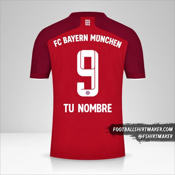 Camiseta FC Bayern Munchen 2021/2022 número 9 tu nombre