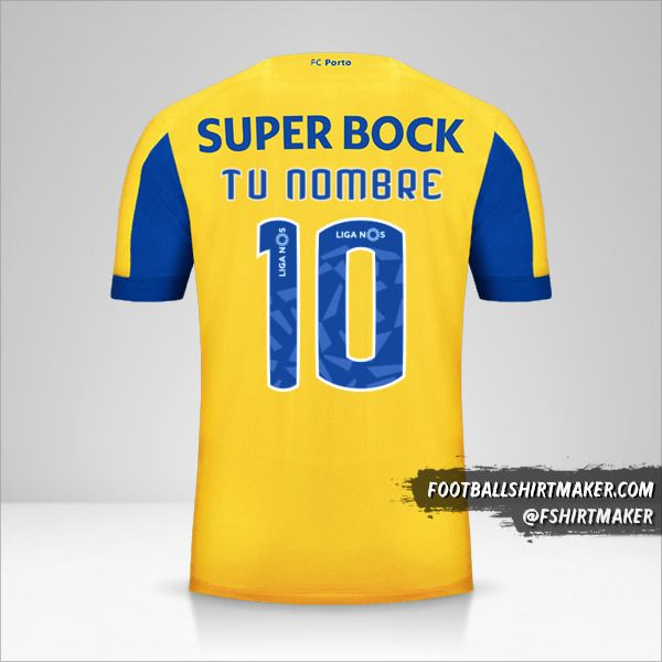 Camiseta FC Porto 2019/20 II número 10 tu nombre