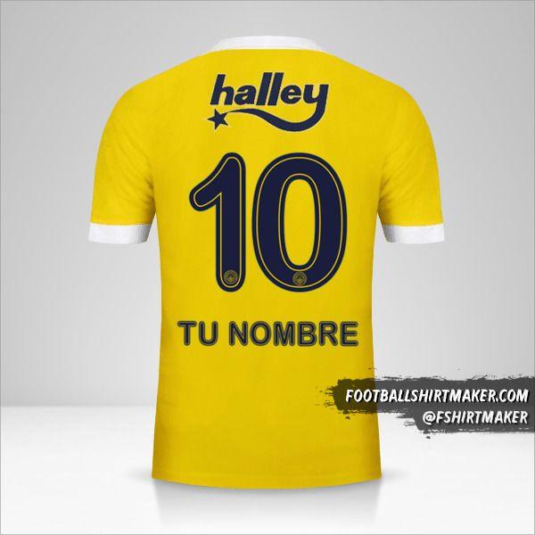 Camiseta Fenerbahçe SK 2017/18 II número 10 tu nombre