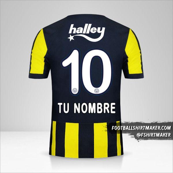Camiseta Fenerbahçe SK 2017/18 número 10 tu nombre