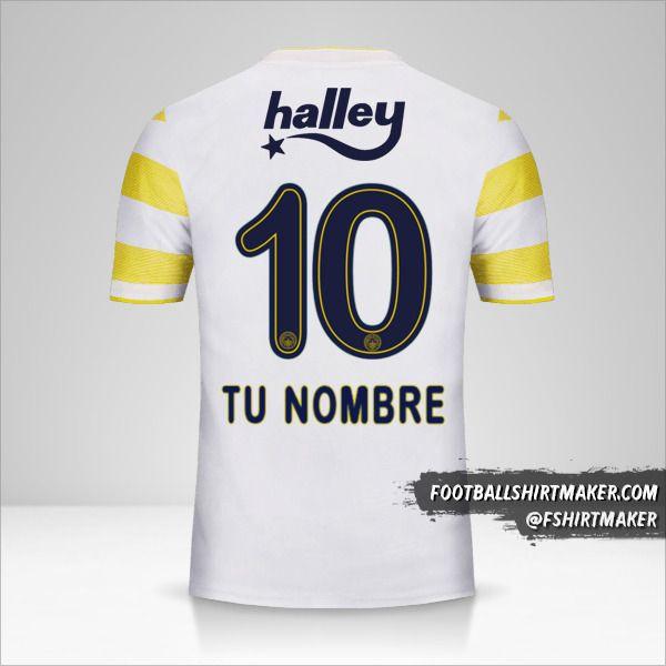 Camiseta Fenerbahçe SK 2018/19 II número 10 tu nombre
