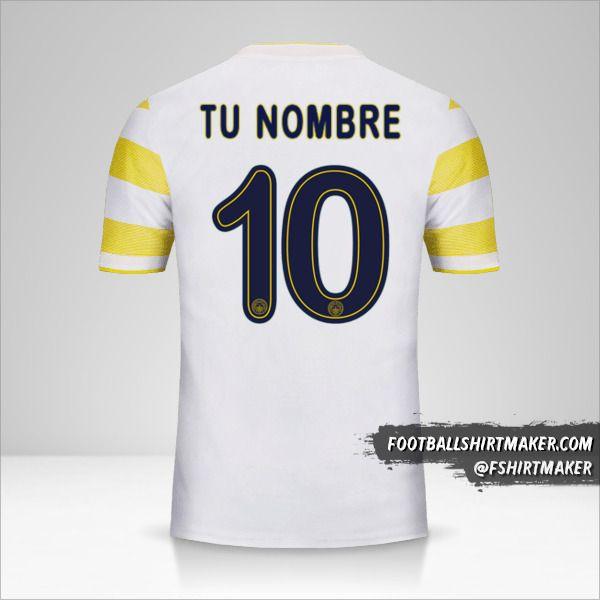 Camiseta Fenerbahçe SK 2018/19 Cup II número 10 tu nombre