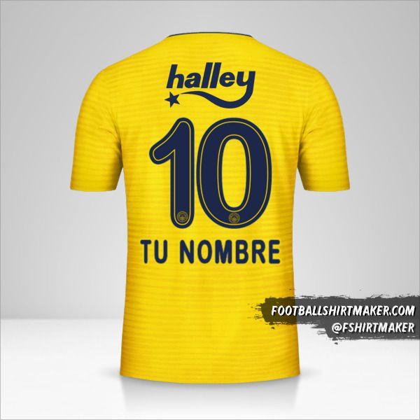 Camiseta Fenerbahçe SK 2019/20 II número 10 tu nombre