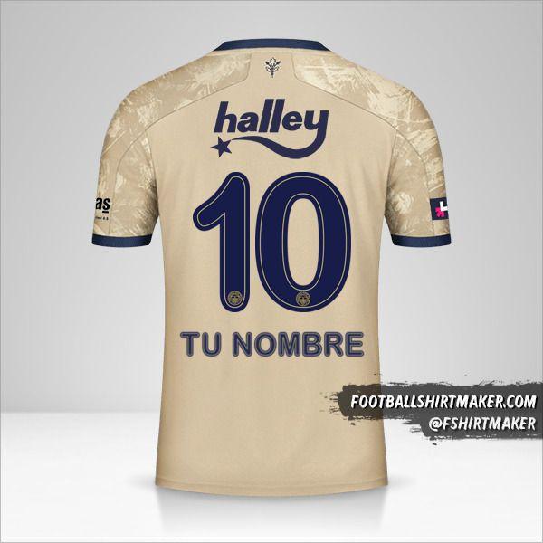 Camiseta Fenerbahçe SK 2020/21 II número 10 tu nombre