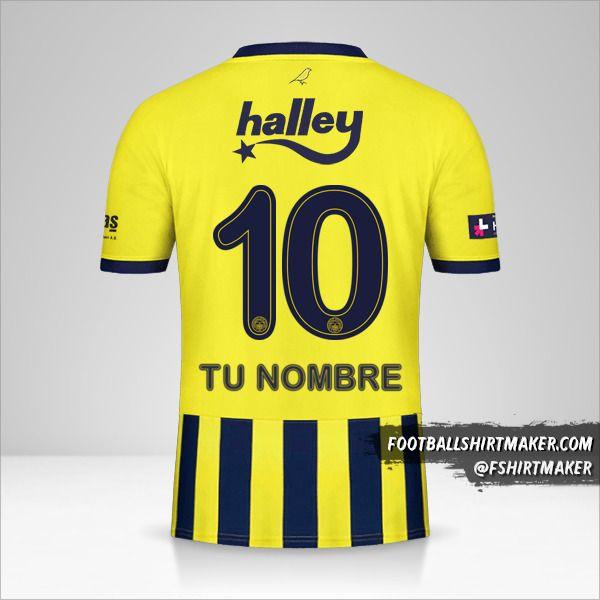 Camiseta Fenerbahçe SK 2020/21 número 10 tu nombre