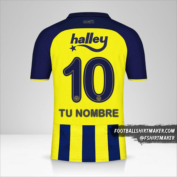 Camiseta Fenerbahçe SK 2021/2022 número 10 tu nombre