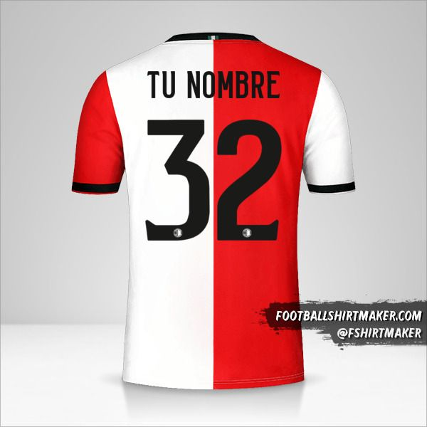 Camiseta Feyenoord Rotterdam 2018/19 número 32 tu nombre