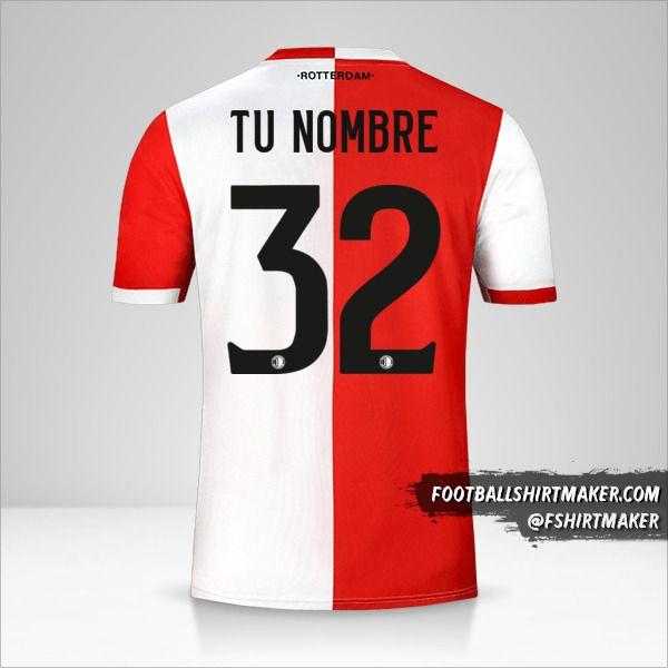 Camiseta Feyenoord Rotterdam 2019/20 número 32 tu nombre