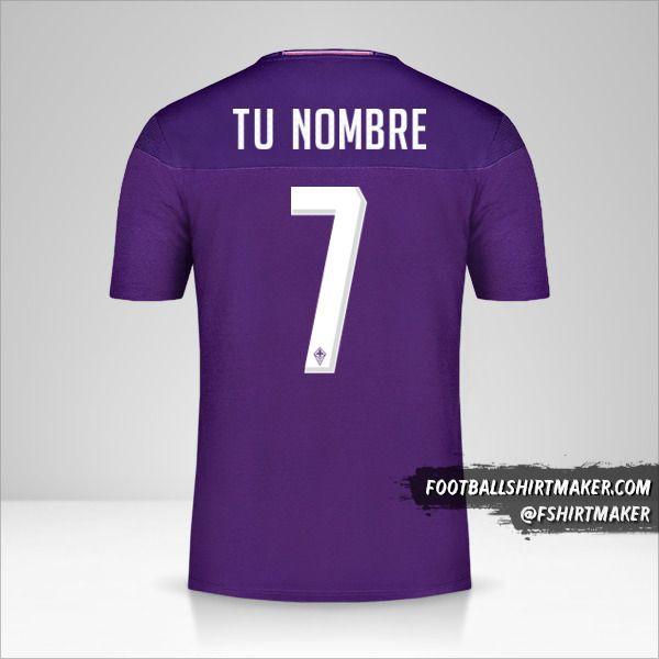 Camiseta Fiorentina 2019/20 número 7 tu nombre