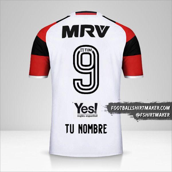 Camiseta Flamengo 2016/17 II número 9 tu nombre