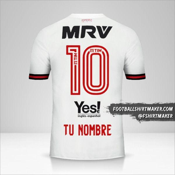 Camiseta Flamengo 2017/18 II número 10 tu nombre