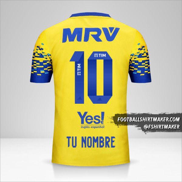 Camiseta Flamengo 2017/18 III número 10 tu nombre