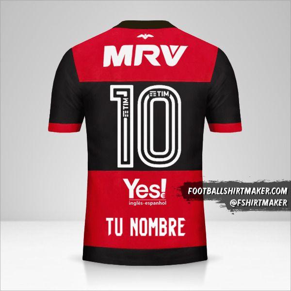 Camiseta Flamengo 2017/18 número 10 tu nombre