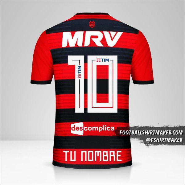 Camiseta Flamengo 2018/19 número 10 tu nombre