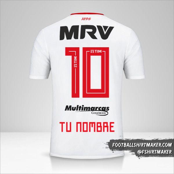 Camiseta Flamengo 2019 II número 10 tu nombre