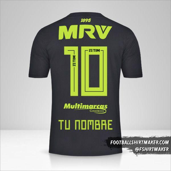 Camiseta Flamengo 2019 III número 10 tu nombre