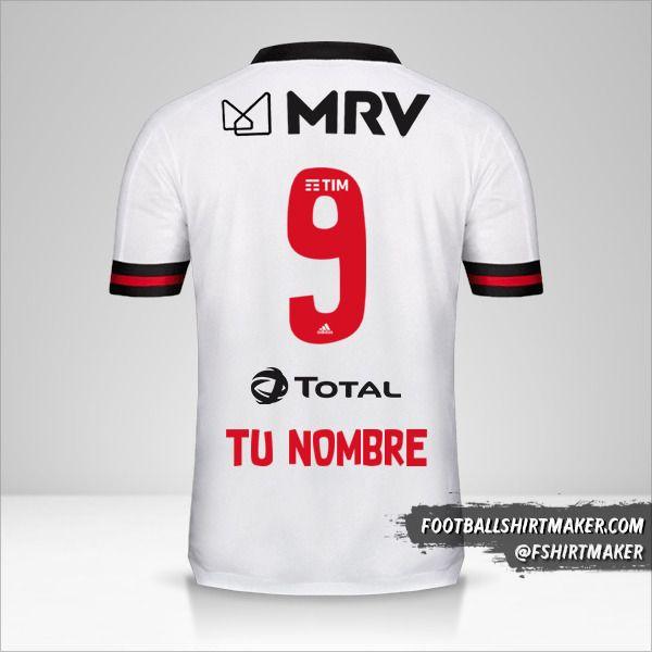 Camiseta Flamengo 2020 II número 9 tu nombre