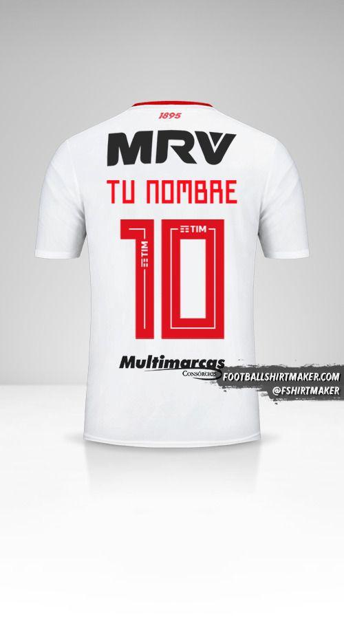 Camiseta Flamengo Libertadores 2019 II número 10 tu nombre
